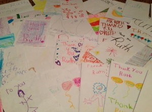 Cards made by my after school program kids