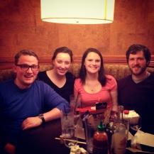 A very happy surprise dinner with Hallie & Matt!