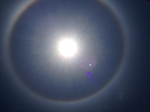 """There's a rainbow around the sun!"""