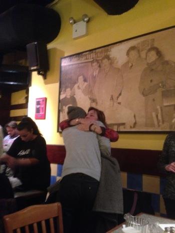 Momma hugs